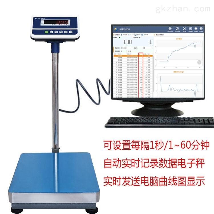 连接记录称重数据变化电子台秤
