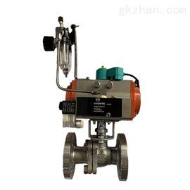 ZSHO化工厂精铸不锈钢法兰气动切断阀