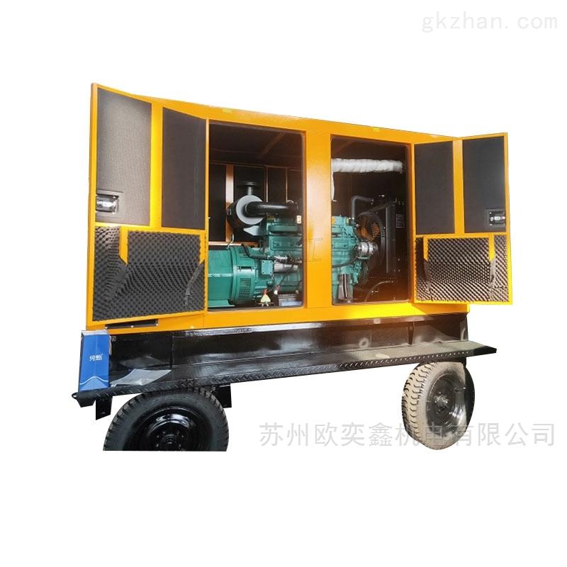 100KW静音柴油发电机组6缸三相应急工厂用