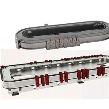 磁懸浮輸送線系統-磁驅環形線-直線電機系統