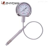 PT124Y-615带输出熔体压力表,柔性管带输出压力表