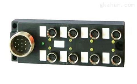 8口8点M8总线I/O分线盒分体式带M23插座12针