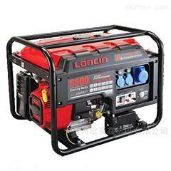 单缸重庆风冷小型5KW汽油发电机隆鑫LC6500单相电动