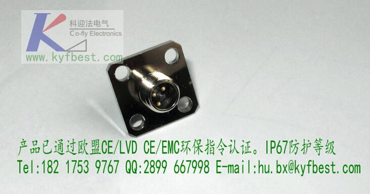 常规芯数:3针3孔、4针4孔、5针5孔、6针6孔 产品名称:M8型传感器防水插座,自带电缆,针型孔型,安装螺纹与方式任选,带电缆长度任选。  防护等级:IP67 接触件材料:铜合金  材料接触表面:NIAU   接触件载体材料:AU  夹具本体材料:PVC/PA66 螺圈材料:铜合金  密封材料:丁晴橡胶 产品认证:CE、ROHS、ISO9001各种认证 安装螺纹:M8*0.5、M8*1、M10、M12、PG7  科迎法优势 从安全、快速的数据传输,到高位信号传输,再到创新的M8 I/O电缆,所有产品均采用紧凑型设计 从现场层到设备,所有接口均采用统一的接线方式 采用牢固设计、优质材料,防护等级达到IP65/67,性能更加可靠 产品系列丰富齐全,即便对于要求严格的食品行业或户外应用,都有适合的产品解决方案  特殊外形结构可按照客户要求定制满足特殊要求的布线产品 厂家简介 科迎法公司坚持创新、创新、再创新的思路,坚持