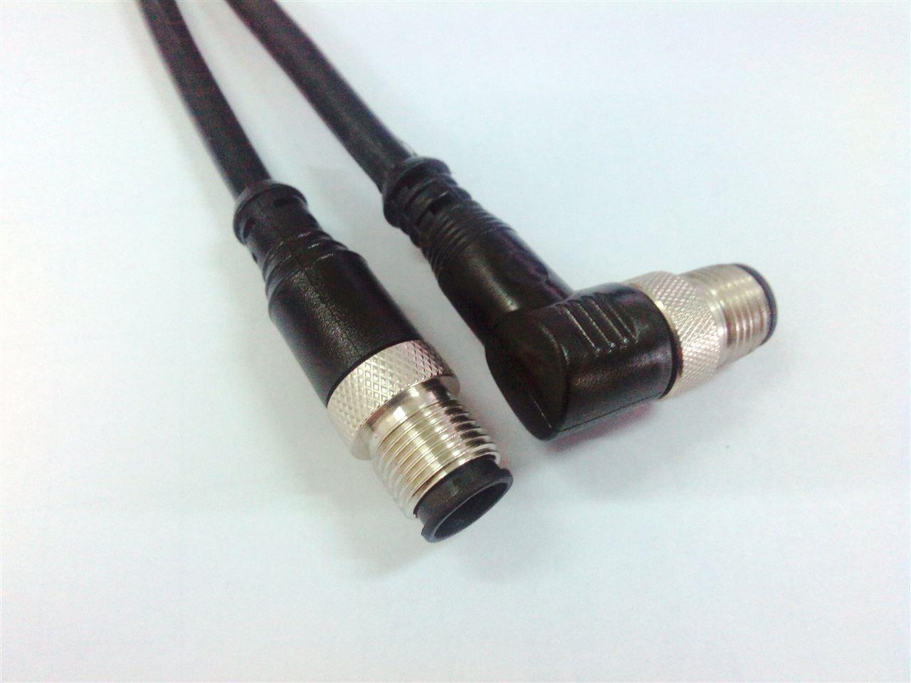 带NMEA2000连接器产品名称:M12型传感器防水连接器,现场自接电缆型,针型孔型,直头弯头(不带电缆)