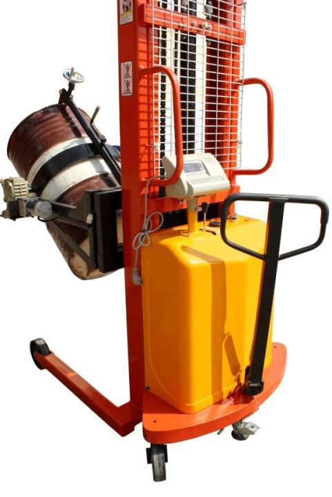 【亚津】半电动油桶搬运车秤图片