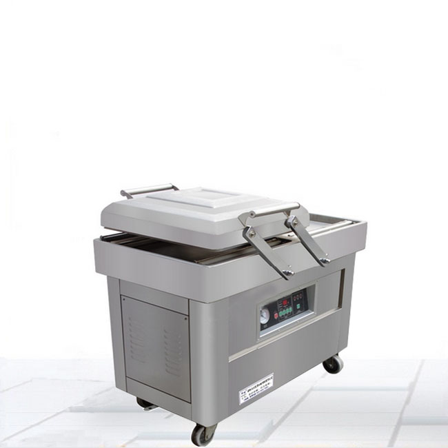 600型自动不锈钢果蔬双室真空包装机